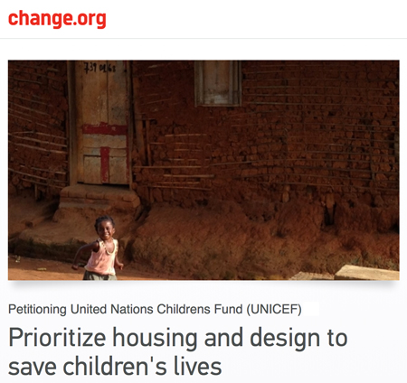 Sign our petition urging world leaders to prioritize housing as an essential pillar of public health and, more broadly, development.
