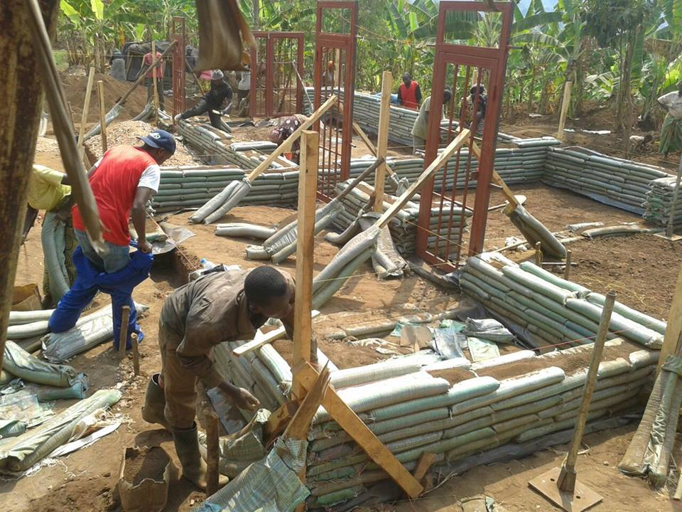 GAC constructing a house in Rwanda Image Credit: General Architecture Collaborative